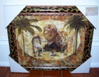 LIONS TIGERS Leopards Framed African Safari Jungle Picture 4 Home
