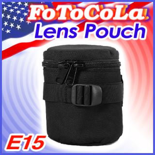 Padded Camera Lens Bag Case Cover Pouch Protector E15