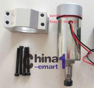CNC 300W DC 12 48V Air Cooling Spindle Motor Mount Bracket for
