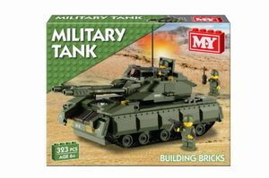 Military Army Tank Building Bricks 323pcs Ages 6 Lego Compatible TY551