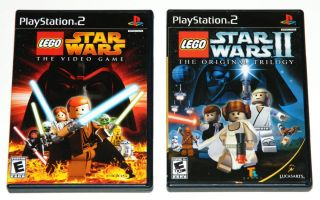 Lot of 2 PS2 Games LEGO Star Wars The Video Game & II The Original