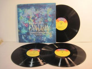 1964 3xLP Walt Disneys Fantasia Leopold Stokowski w The Philadelphia