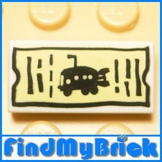 U208A Lego Spongebob Underwater Fish Bus Ticket New