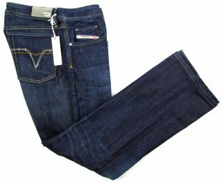 New Diesel Italy Levan 88W Low Rise Relaxed Button Fly Jeans 36 x 32 $