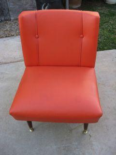Retro Original Furniture Chair Orange Lounge Les Brown Co Inc