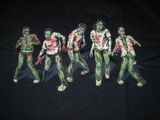 Pearl Jam Black Shirt PJ20 2011 RARE Zombie Halloween Style Many Sizes