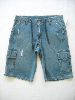 Levi Strauss Distressed Cargo Jean Shorts Mens Size 32