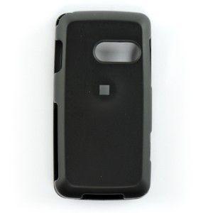 Rubber Black Hard Case Cover for LG Rumor Touch LN510