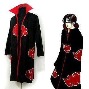 Japanese Anime cosplay costumes NARUTO Akatsuki Members Costume Cloak