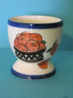 Liddy Ceramic Egg Cup Oranges Napkin Napkin Ring Signed