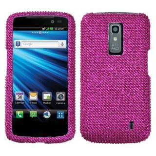 For LG Nitro HD Crystal Diamond Bling Hard Case Snap on Phone Cover