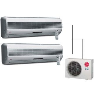 LG / GOLDSTAR MINI SPLIT AIR CONDITIONER 2400BTU WITH HEAT PUMP AND 2