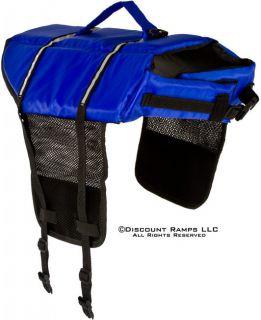 LARGE BLUE DOG LIFE JACKET PET PRESERVER FLOATATION SAFETY VEST (DLJ L