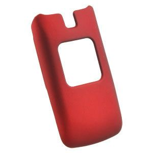 Tracfone LG 420g Rubber Feel Red Protective Cover