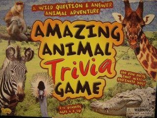 Trivia Game Nature Quiz Wild Life Board Game Family WSC Jungle