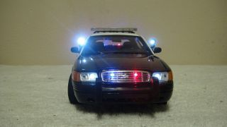 POLICE 1 18 SAN GABRIEL CALIFORNIA FORD CROWN VICTORIA LIGHTS SIREN