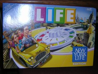 RARE New York Life Game of Life Board Game Factory SEALED New 2010