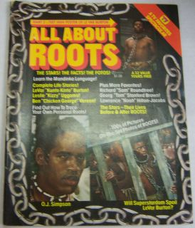 All About Roots Magazine O J Simpson LeVar Burton 1977 081112R