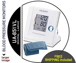LifeSource UA 851VL Automatic Blood Pressure Monitor