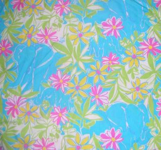 Lilly Pulitzer Fabric Blue Garden Vista 2 yds Free SHIP