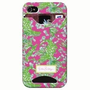 Lilly PULITZER iphone case COVER 4/4S with Credit Card/I.D. Slots *See