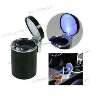 Stand Cup Car Auto LED Light Smoke Cigarette Ashtray Adhesive Holder