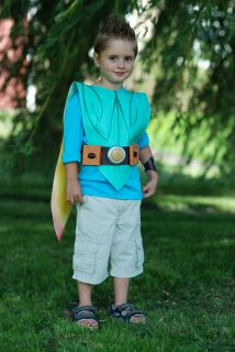 Boys Costume Fancy Dress Tree Fu Tom Like Cape Wings Belt Watch Set