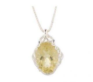 Sterling Silver Limon Quartz Pendant With Chain Jewelry Sale