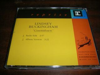 Lindsey Buckingham Countdown Promo Cd Single Fleetwood Mac Stevie
