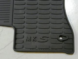 Lincoln MKS 2009 2010 Black All Weather Rubber Vinyl Floor Mats Set of