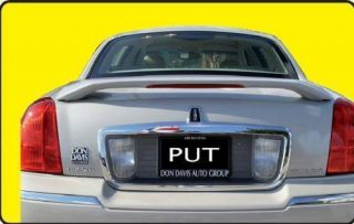 03 07 Lincoln Town Car Custom Spoiler Wing Primer New