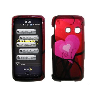 For LG Rumor Touch Case Cover Pink Hearts