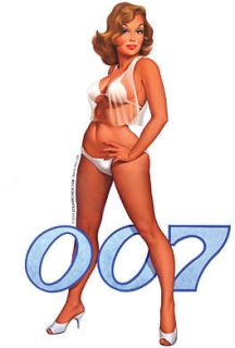 Baron Von Lind Bond Girl 007 Retro Sticker Decal RARE