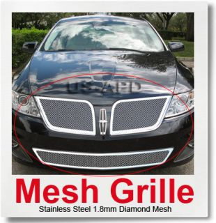 09 10 Lincoln MKS Stainless Steel Mesh Grille Combo