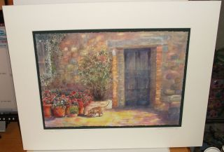 LINDA THOMPSON TUSTANY WELCOME LIMITED EDITION HAND SIGNED LITHOGRAPH