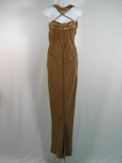 Mendel Taupe Sleeveless Full Length Dress Gown 6