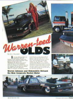 1983 Hurst Olds Warren Johnson Linda Vaughn Pro Stock