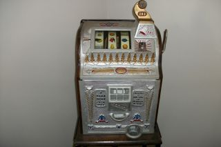 Antique 1929 Mills 25 Cent Liberty Bell Slot Machine Very RARE Nice