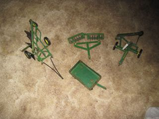 Ertl 1 64 Tractor John Deere Farm Toy Implement 4 Piece Lot