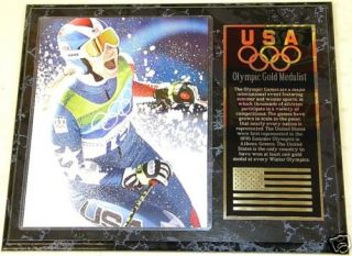 Lindsey Vonn Olympics Team USA 15x12 Gold Medal Plaque