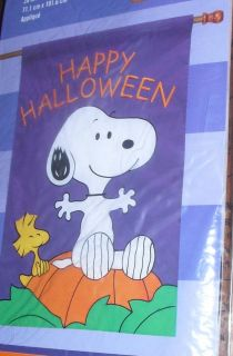LARGE Peanuts LINUS Halloween GREAT PUMPKIN Patch Fall SNOOPY Applique
