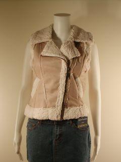 Ashley by International 26 Faux Fur Shearling Vest Top s M L XL New