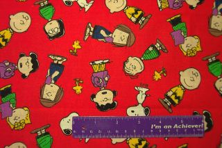Peanuts Charlie Brown Lucy Linus Snoopy Sally Fabric FQ