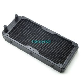 Aluminum liquid water cooling water cooled row heat exchanger