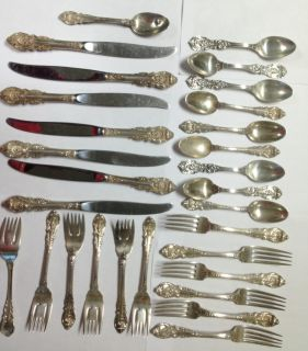 SIR CHRISTOPHER BY WALLACE STERLING SILVER FLATWARE SET SERVICE 28