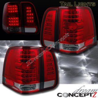 03 06 Lincoln Navigator LED Tail Lights 04 05 06 Red Clear Lens L E D