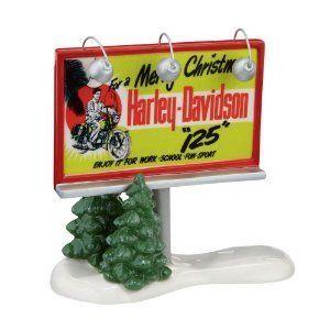 Dept 56 Harley Davidson® Billboard Snow Village Harley Bike Free