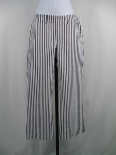 WOMYN Blue White Striped Pants Slacks 2