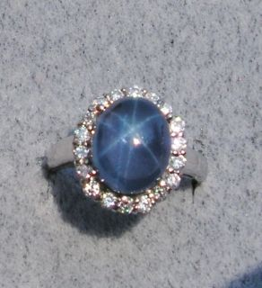 Linde Lindy Twilight Blue Star Sapphire Created SS Ring