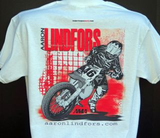 AMA Pro Flat Track Racing National No 46 Aaron Lindfors T Shirt